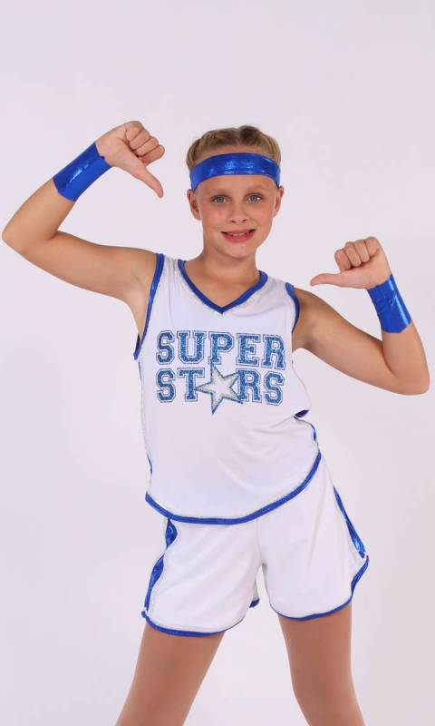 SUPER STARS - b ball - Royal Blue and White