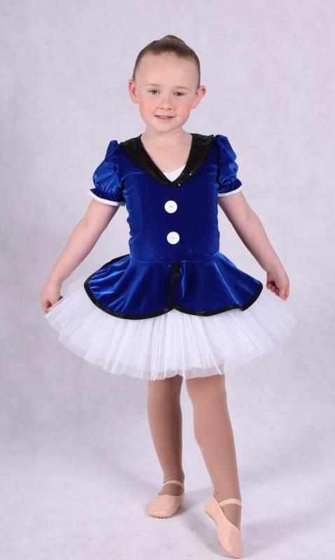 MARY POPPINS tutu topper - Blue Velvet black sequin spandex