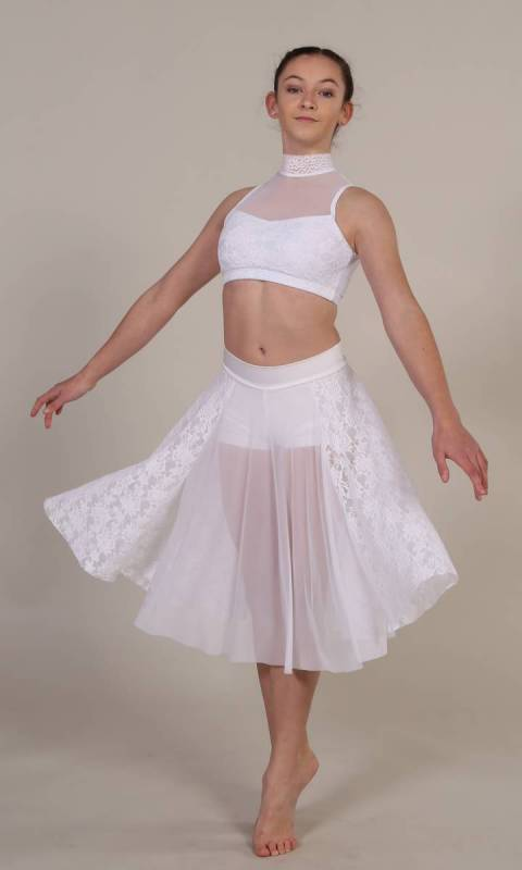 DOVES FLY  - White lycra lace and mesh
