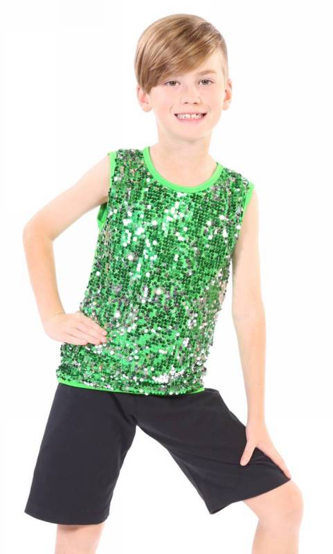 BOYS SEQUIN FRONT TOP  Dance Costume