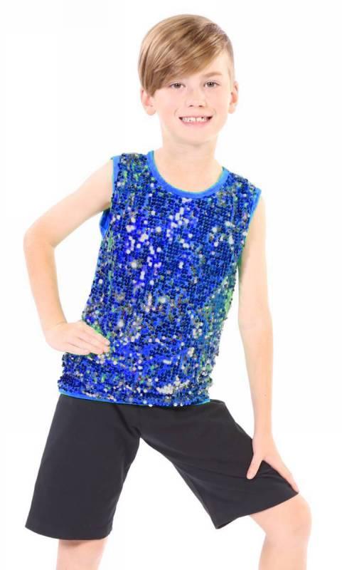 SEQUIN FRONT TANK - unisex Dance Costume