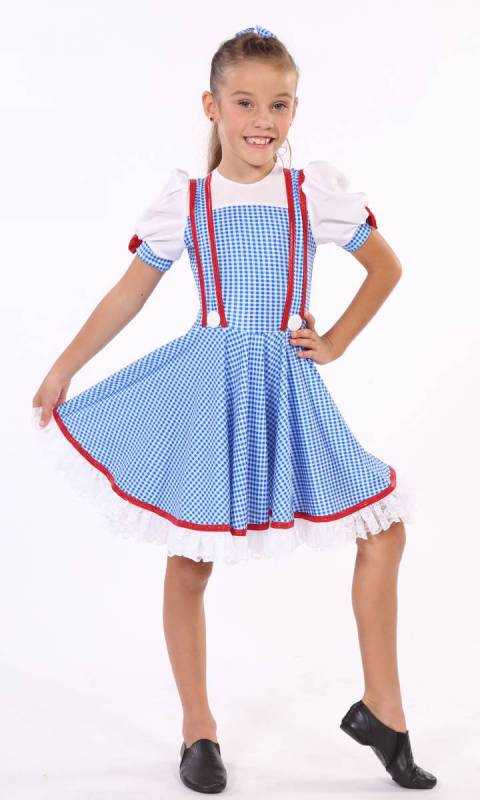 DOROTHY + 2 HAIR BOWS - new style Dance Costume