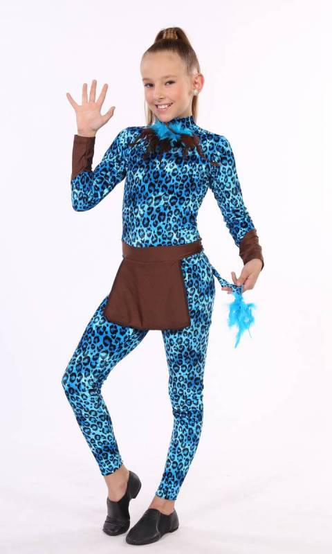 AVATAR- unitard  - Aqua and Brown