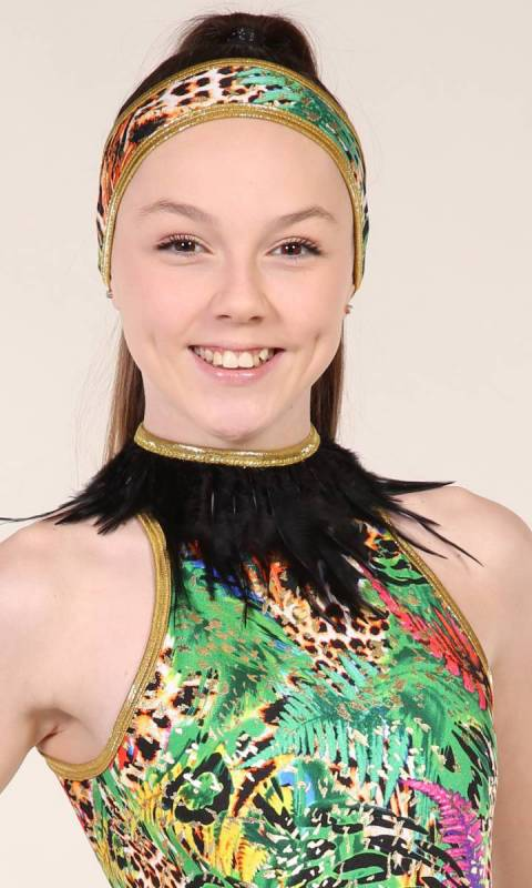 FEATHER COLLAR  Dance Costume