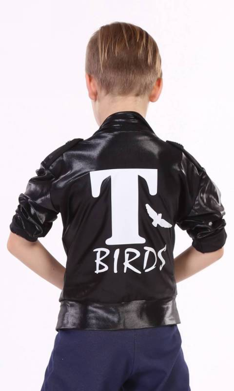 T BIRDS - Jacket - unisex  - Black wetlook