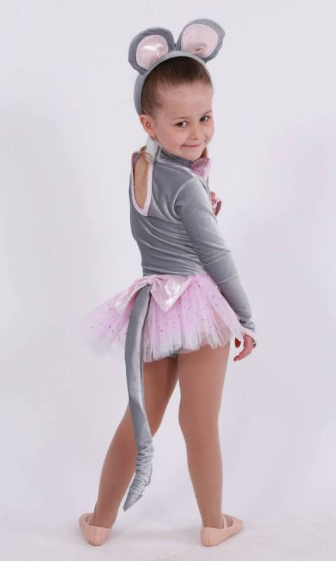 Angelina Mouse - Grey Velvet, Silver zsa zsa and soft pink
