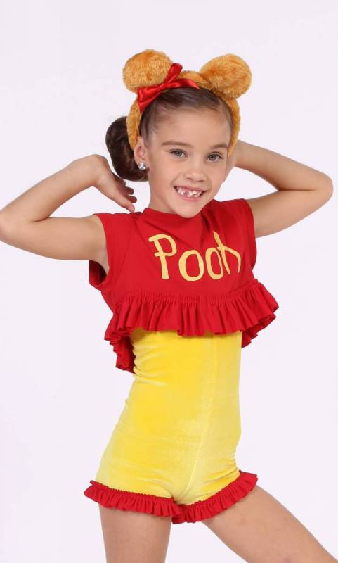 POOH BEAR  - yellow and red