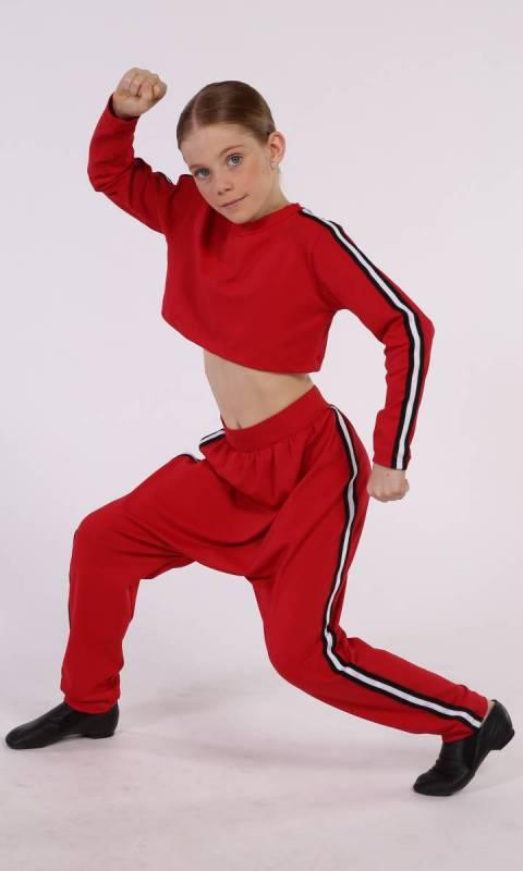 STREET LONG SLEEVE CROP TOP Dance Costume