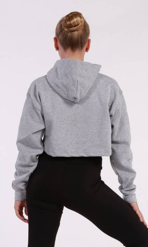 BROOKLYN CROPPED HOODIE  - Grey