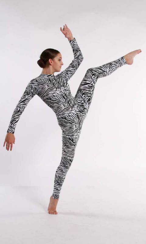 UNITARD - Spandex Prints + Headband Dance Costume