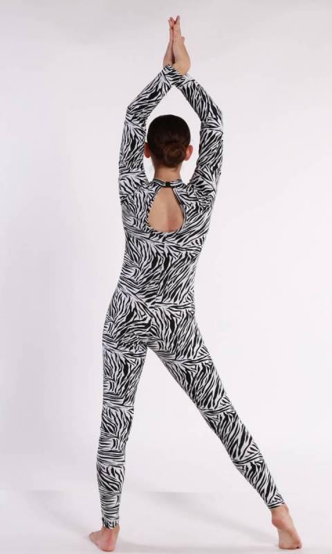 UNITARD - Spandex Prints  - Zebra Print