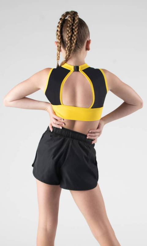 ALPHA  - Black and yellow pictured with Jet shorts that are sold separately