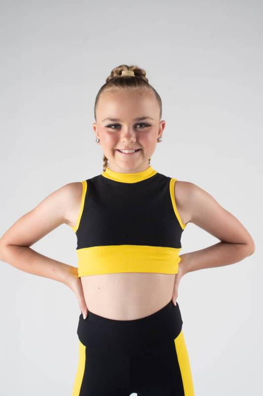 ENERGISE CROP  - Black and yellow
