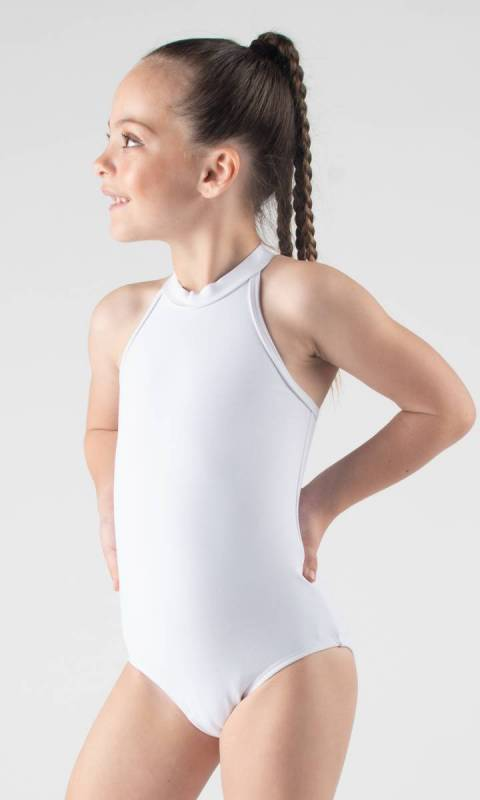 HALTER LEOTARD  - White Supplex
