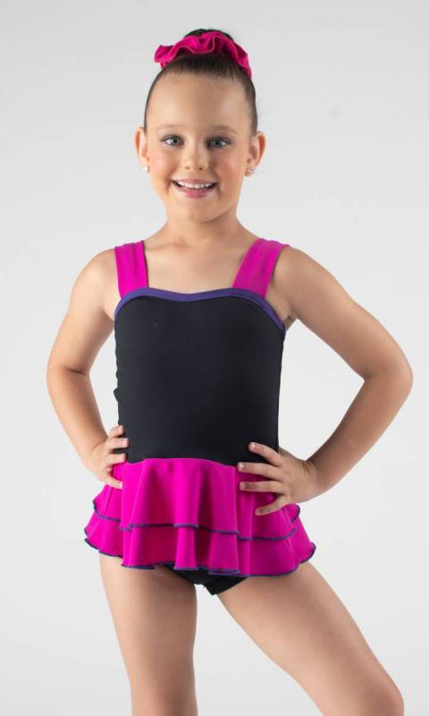 HARPER TOP - Double Peplum  Dance Studio Uniform