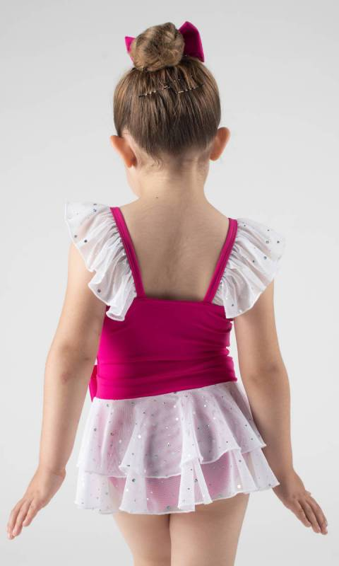 SOPHIE - Leotard dress  - Fuchsia + White