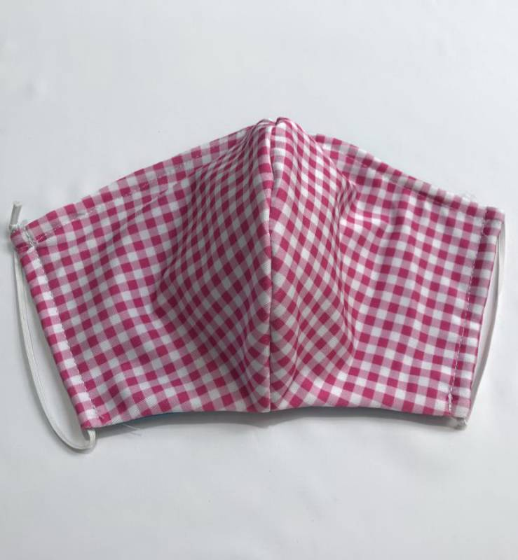 FACE MASK BLEND - GINGHAM PINK