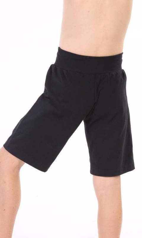 BOYS Shorts Drawcord - Plain - Black Supplex Only