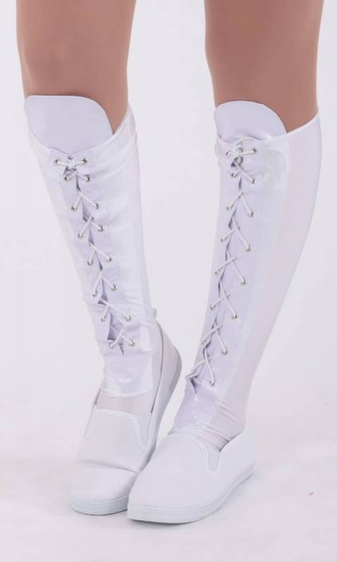 LACE UP BOOTY SOCKS - White