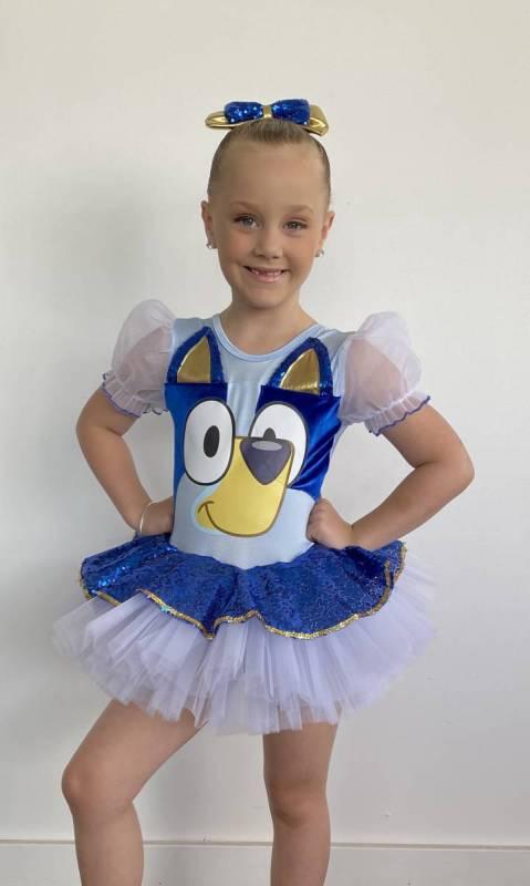 BLUE HEELER + Hair bow Dance Costume