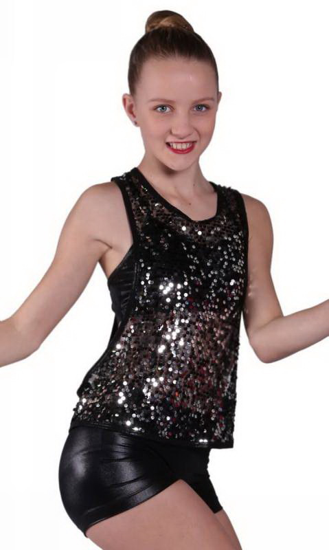 USA SEQUIN TANK Dance Costume