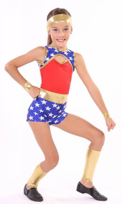 SUPERGIRL - plus accessories  Dance Costume