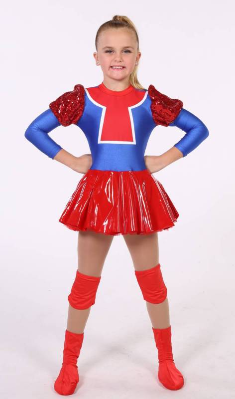 DULOC  - Royal Lycra and red,  Red stretch Vinyl