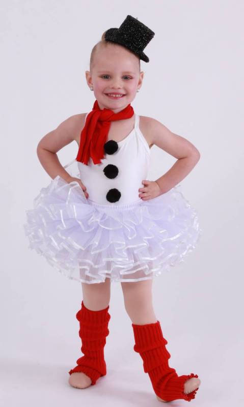 OLAF - snowman  - White Lycra and white tulle