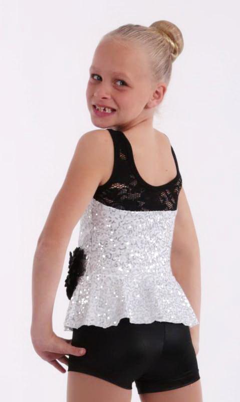 GIRLFRIEND  - White Zsa Zsa and Black lace