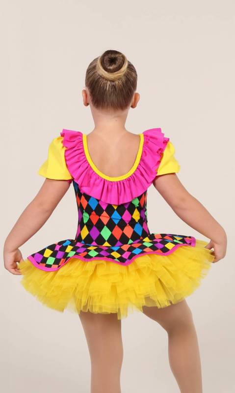CLOWN DOLL - Harlequin and yellow