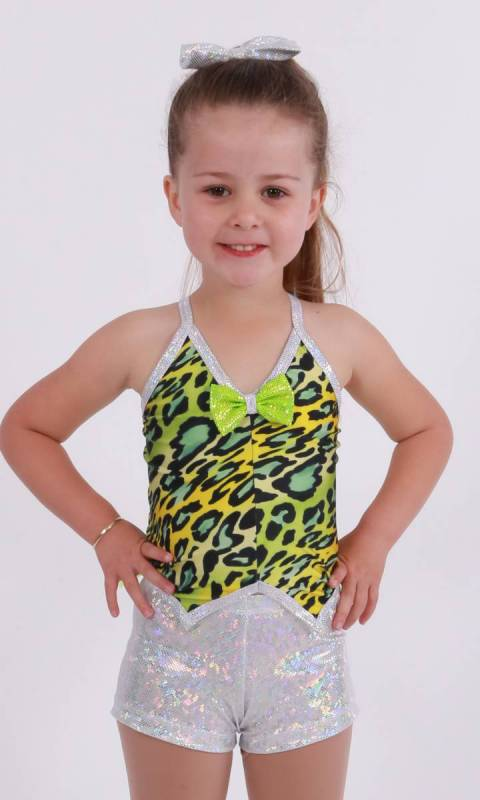 DINOSAURUS Vest with tail with shorts - Tr Dance Costume