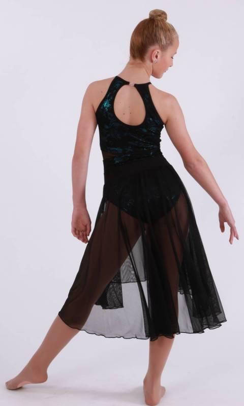 RHIANA SKIRT SET  - Petrol Fog, Black Lace and mesh