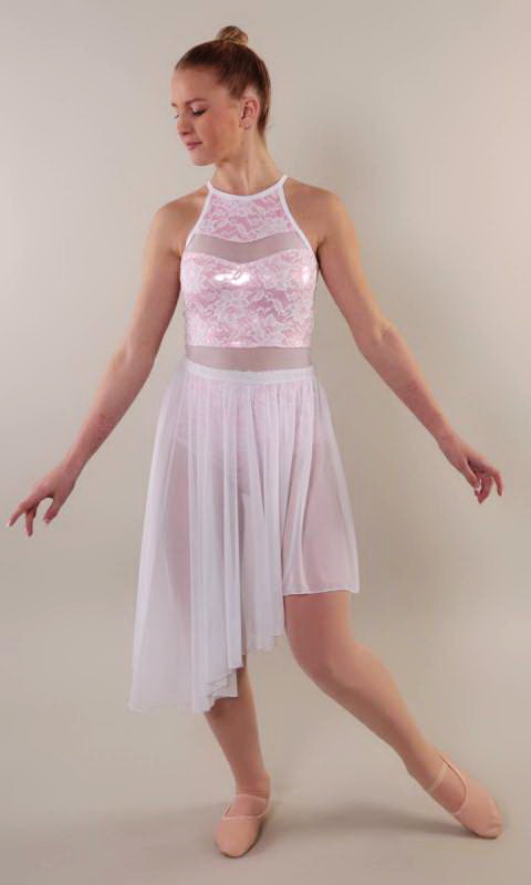 RHIANA SKIRT SET  - Pink Fog white lace and mesh