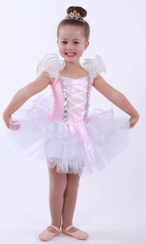 DREAM CATCHER  - White tulle Pink Lycra and sequin organza