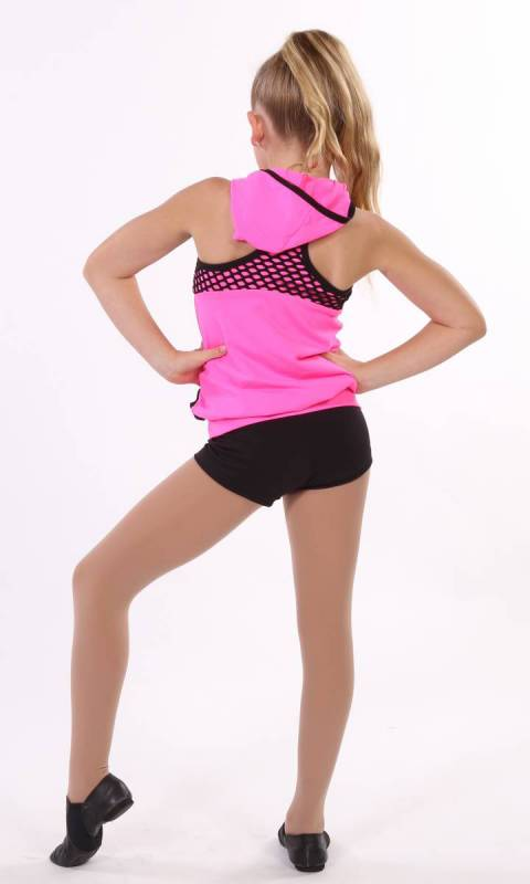 SCREAM - top and shorts - Neon Pink and Black