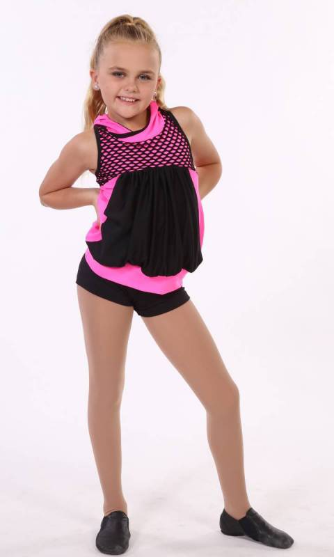SCREAM - top and shorts Dance Costume