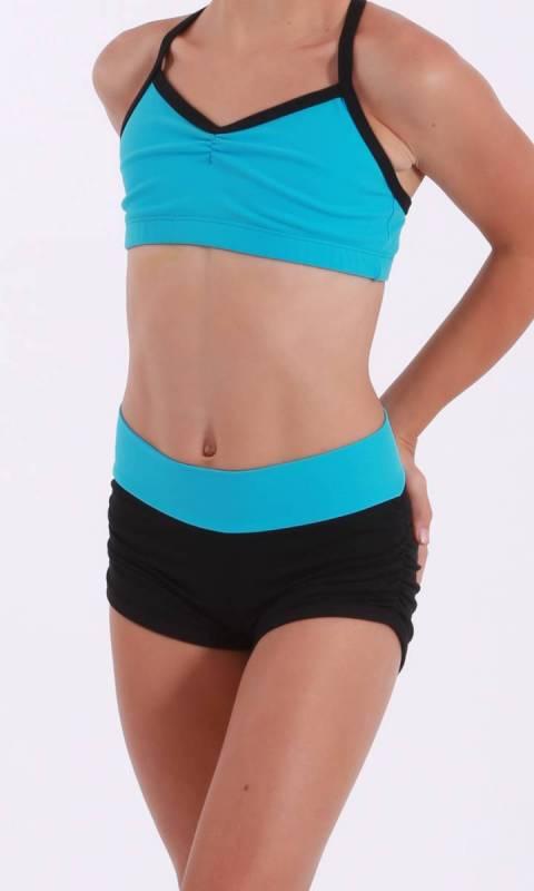 JAMIE LEE hot shorts - ruched sides  Dance Studio Uniform