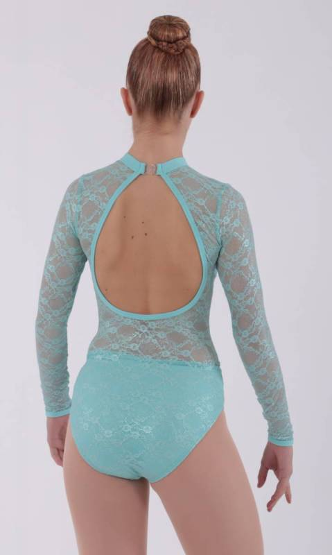 GRACE - leotard  - Mint lace mint lycra