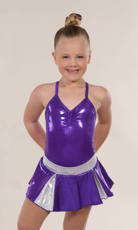 CHEER SKIRT - ONLY  - purple and Silver