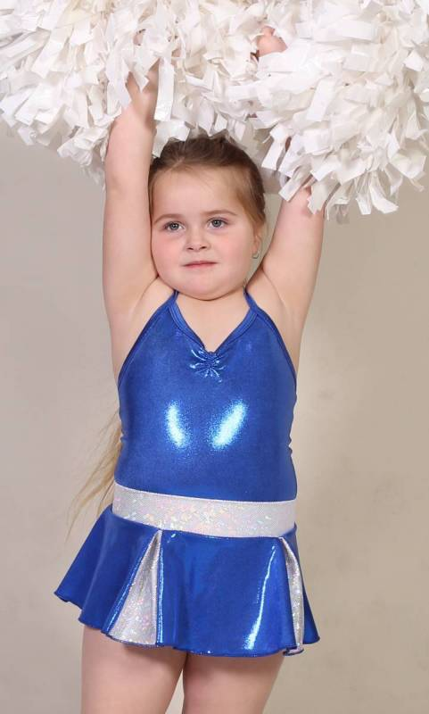 CHEER SKIRT - ONLY  - Royal Blue and Silver