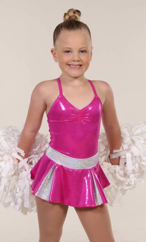CHEER SKIRT - ONLY  - Fuschia and Silver