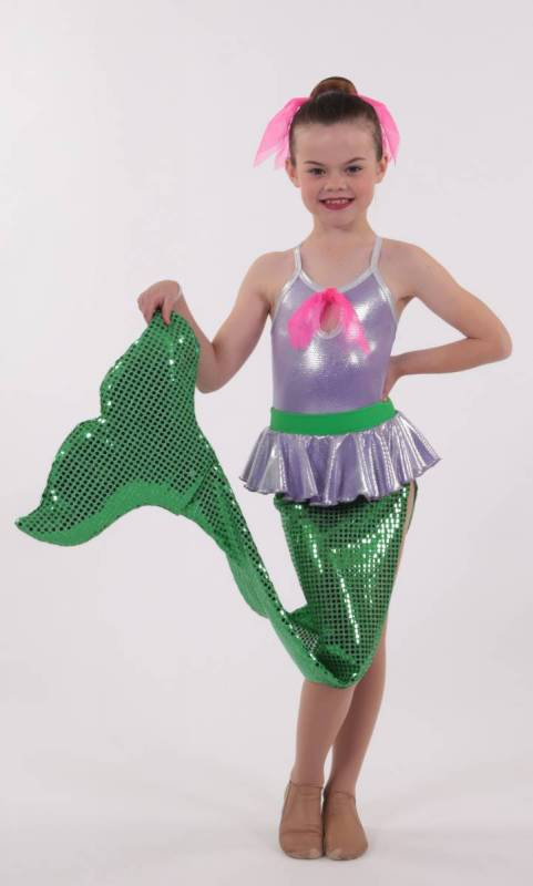 MERMAID  - Lilac Foil Lycra and sequin