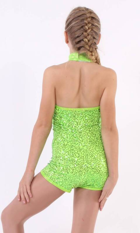 Bedazzled shortard Zsa Zsa - Lime Green zsa zsa