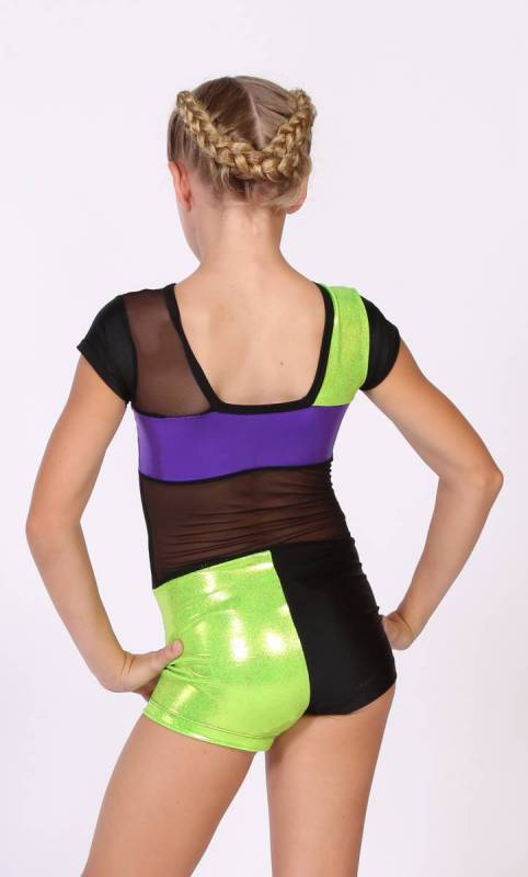 FLASHBACK shortard  - Neon Green Purple and black