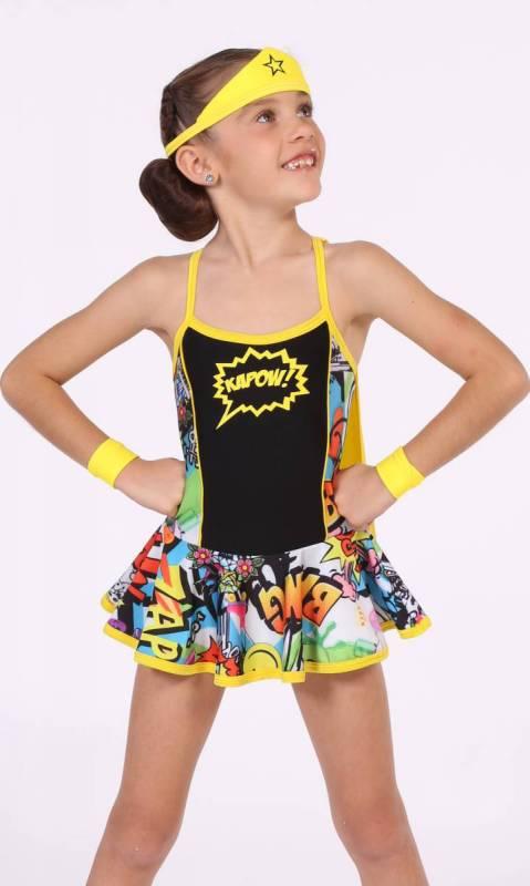 KAPOW - bam pow print Dance Costume