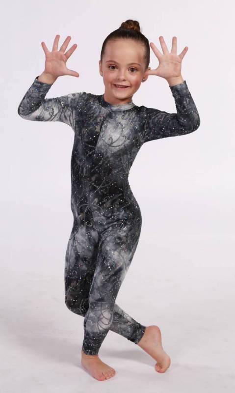 ANIMALIA - Tribal- Long Sleeve unitard Dance Costume