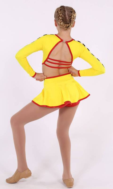 SPEED RACER  - Yellow Black and white check dress with red accents