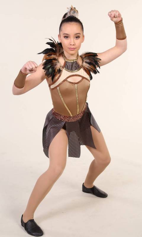 ZENA - Warrior Princess  - Brown Tan and Gold