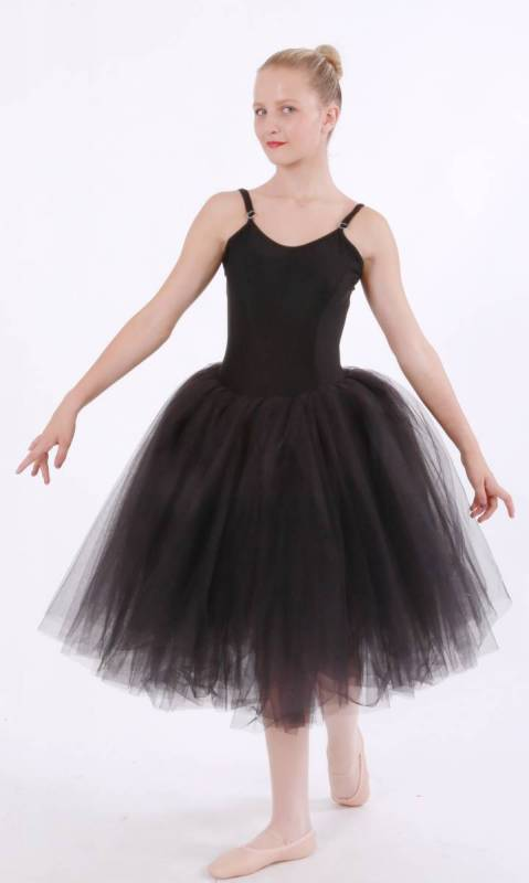 Black lycra with black tulle