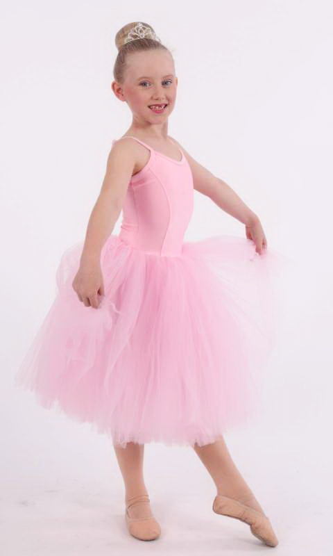 ROMANTIC TUTU - PINK LYCRA AND PINK TULLE